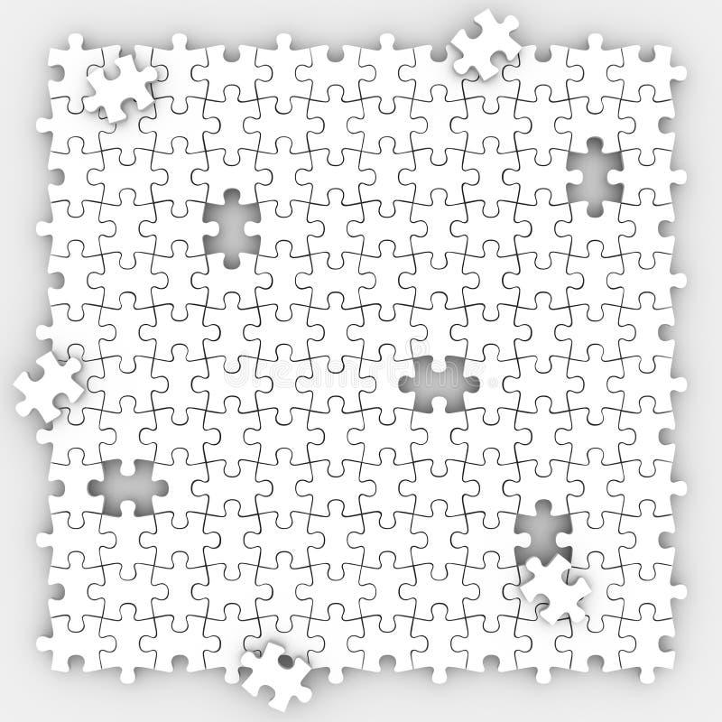 Fondo de los pedazos del rompecabezas que termina el juego de mesa de la imagen que llena H ilustración del vector