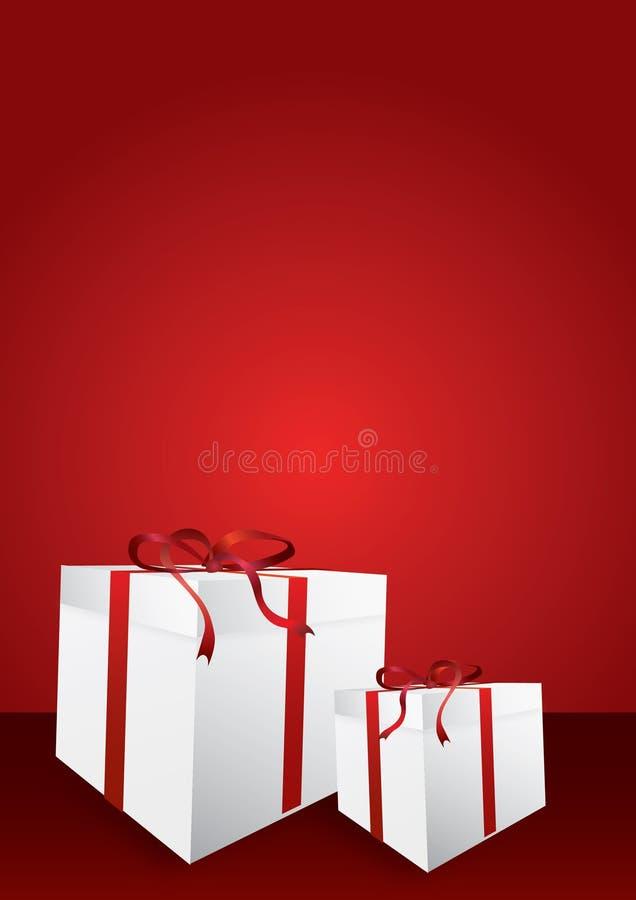 Fondo de los rectángulos de regalo stock de ilustración