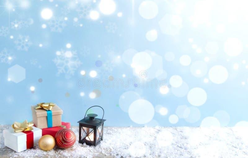 Fondo de los regalos de la Navidad imagen de archivo libre de regalías