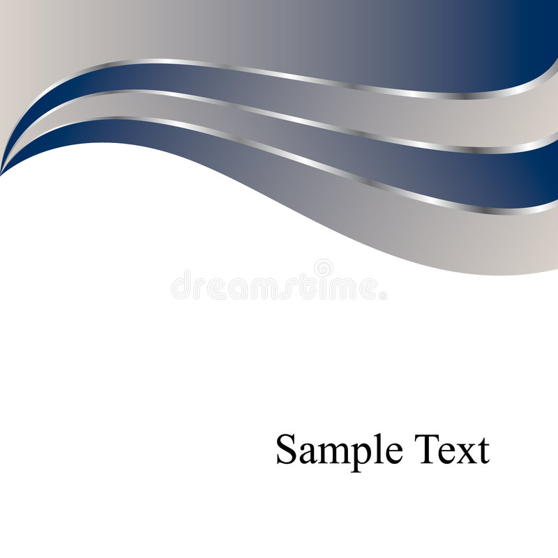 Fondo de los remolinos del azul del vector libre illustration