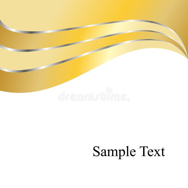 Fondo de los remolinos del oro del vector libre illustration