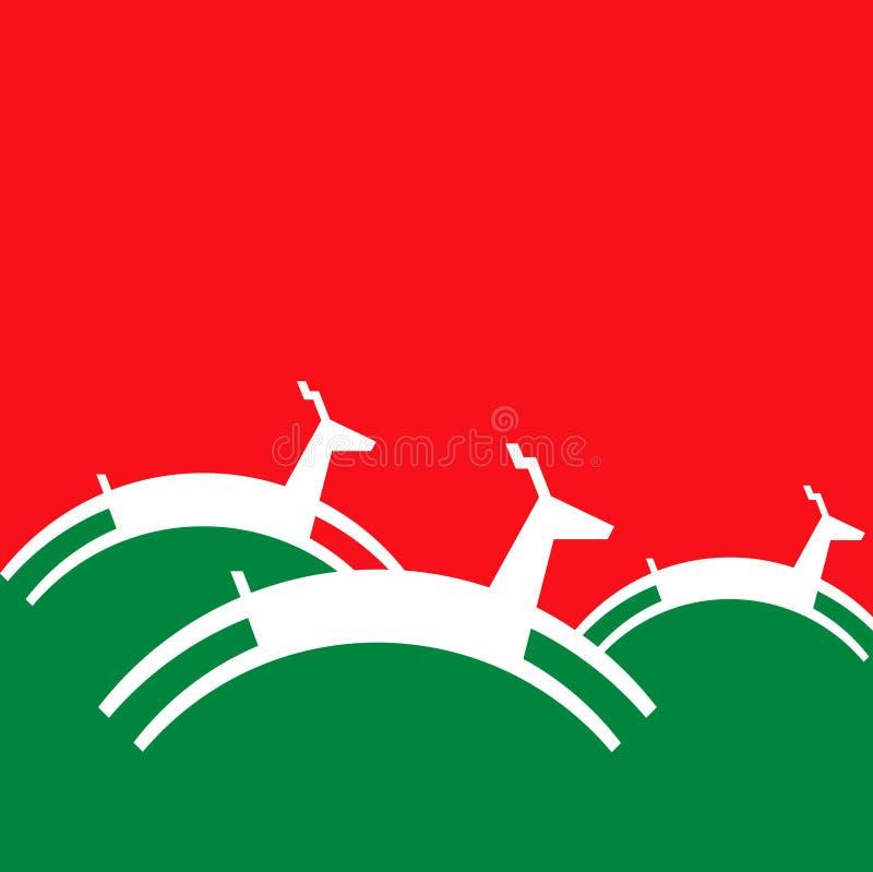 Fondo de los renos de la Navidad