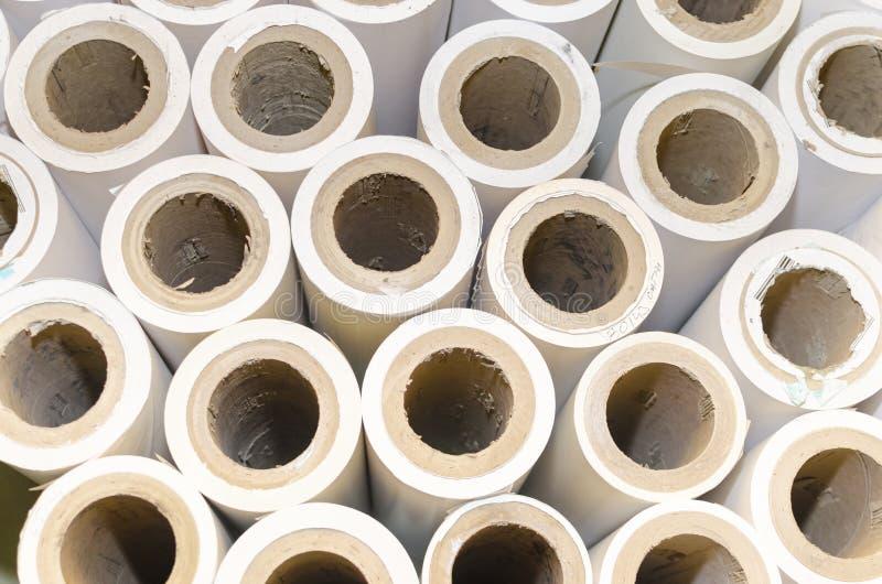 Fondo de los rollos de papel imagenes de archivo