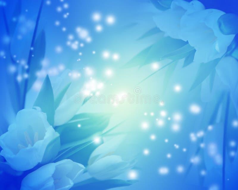 Fondo de los tulipanes azules libre illustration