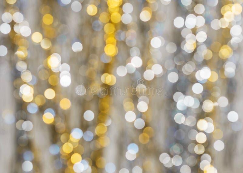Fondo de luces fuertemente borrosas de guirnaldas foto de archivo libre de regalías