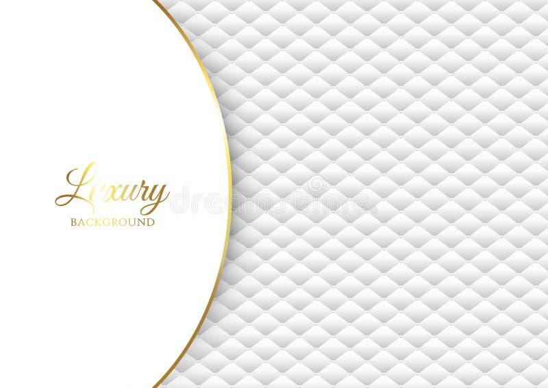 Fondo de lujo con diseño acolchado blanco libre illustration