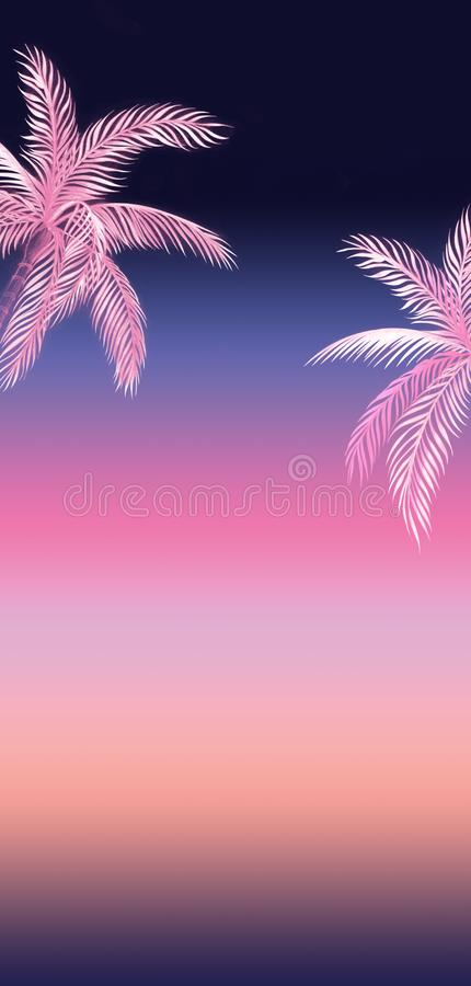 Fondo de lujo de las palmeras ilustración del vector