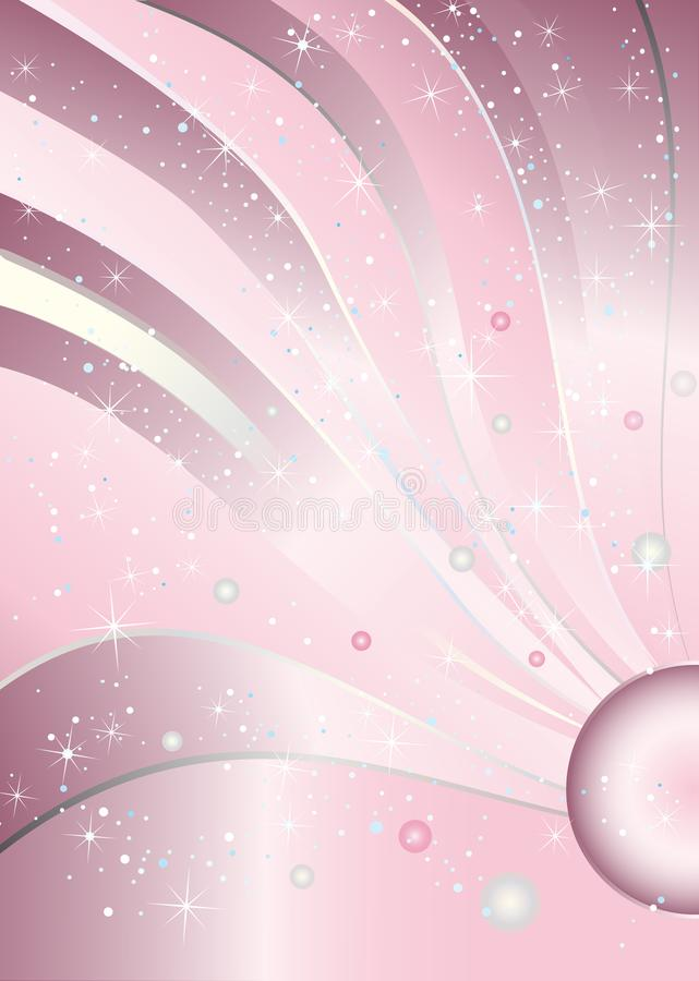 Fondo de lujo rosado de princesa Baby Girl Birthday ilustración del vector