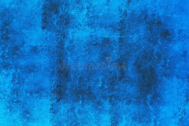 Fondo de mármol azul abstracto stock de ilustración