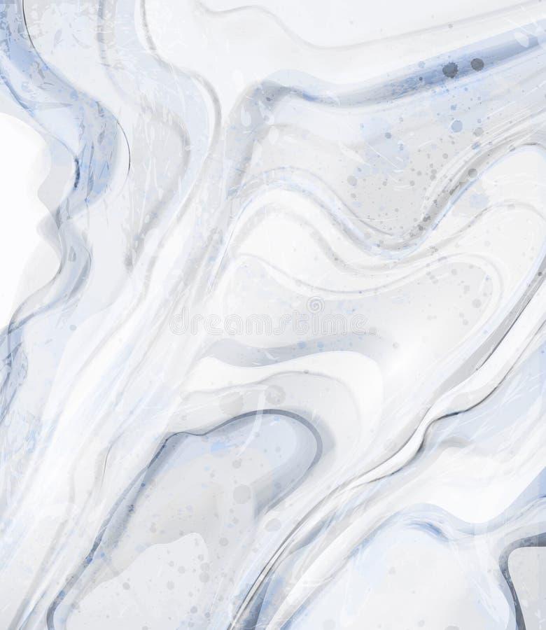 Fondo de mármol azul Ejemplos de piedra elegantes de las texturas del modelo ilustración del vector