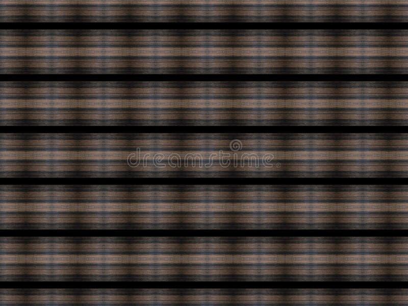 Fondo de madera abstracto cepillado con las lineas horizontales negras estrechas ilustración del vector