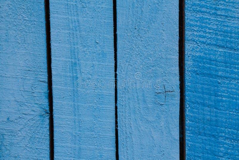Fondo de madera azul del primer de los tablones imagenes de archivo