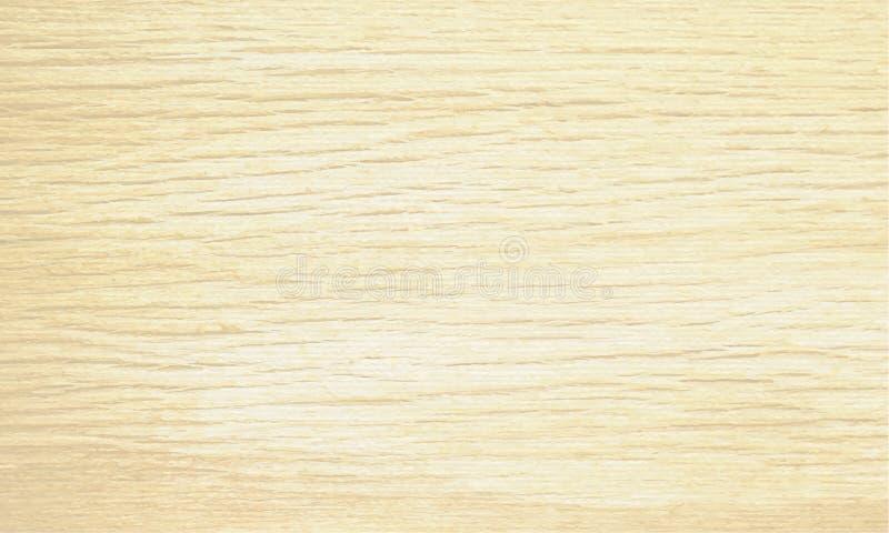 Fondo de madera beige ligero de la textura Plantilla horizontal de la muestra natural del modelo Ilustración del vector ilustración del vector