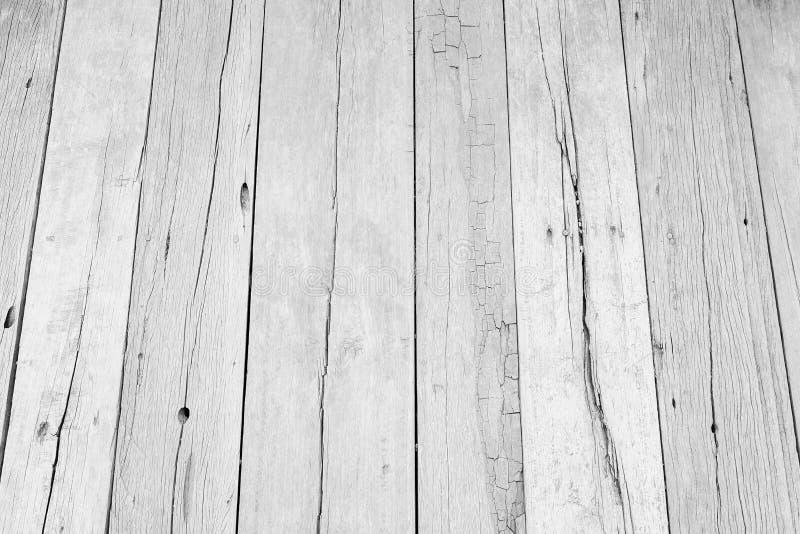 Fondo de madera blanco de la textura del piso pared pintada pastel de la superficie del modelo del tablón; tablero de la mesa gri fotografía de archivo