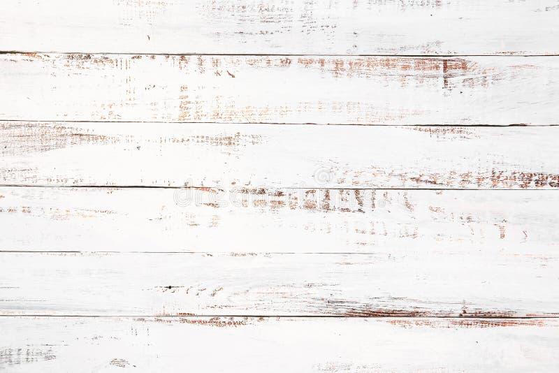 Fondo de madera blanco de la vendimia ilustración del vector