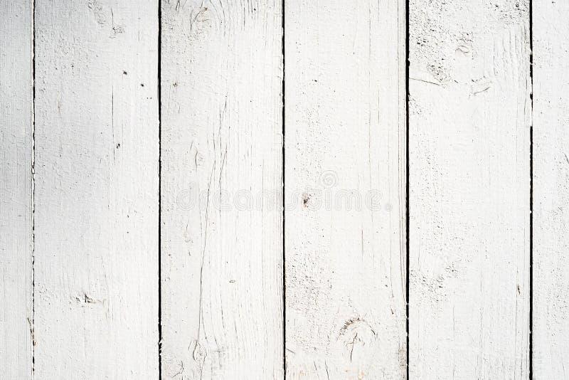 Fondo de madera blanco de los tablones foto de archivo libre de regalías