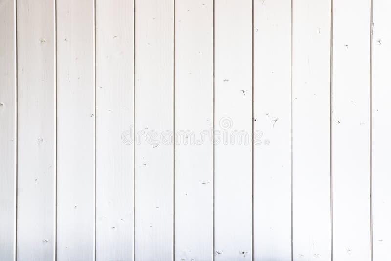 Fondo de madera blanco Fondo pintado gris blanco de la textura del tablón de la pared del tablero de madera fotos de archivo libres de regalías