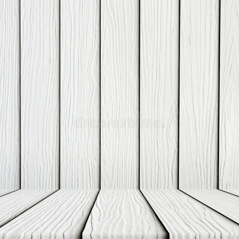 Fondo de madera blanco vacío del piso fotografía de archivo libre de regalías