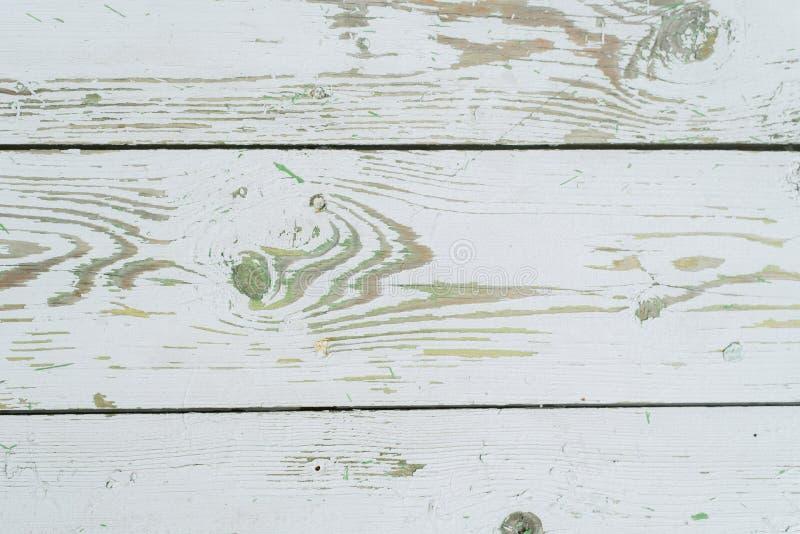 fondo de madera Blanco-verde foto de archivo