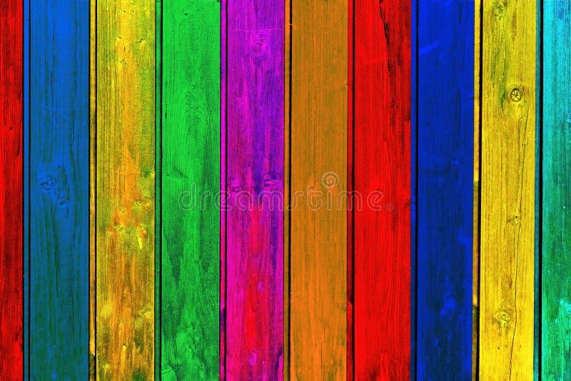 Fondo de madera colorido de los tablones fotografía de archivo libre de regalías