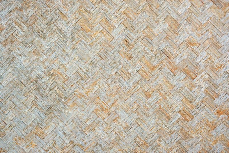 Fondo de madera de la armadura de la pared de bambú vieja imagen de archivo libre de regalías