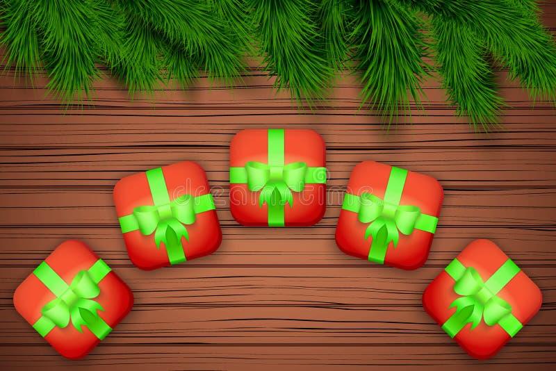 Fondo de madera de la Navidad libre illustration