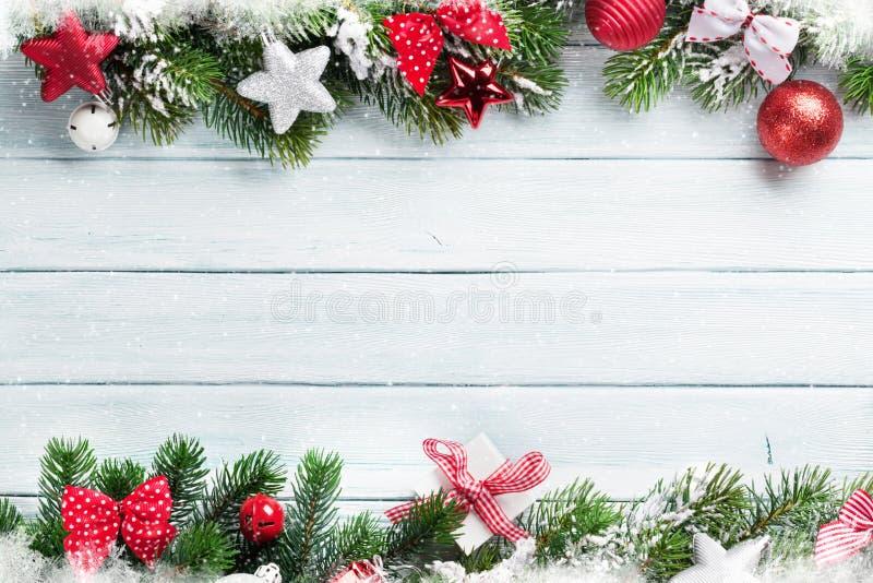 Fondo de madera de la Navidad imagenes de archivo