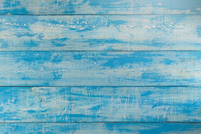 Fondo de madera de la playa del vintage - tablón de madera del viejo color azul fotos de archivo libres de regalías