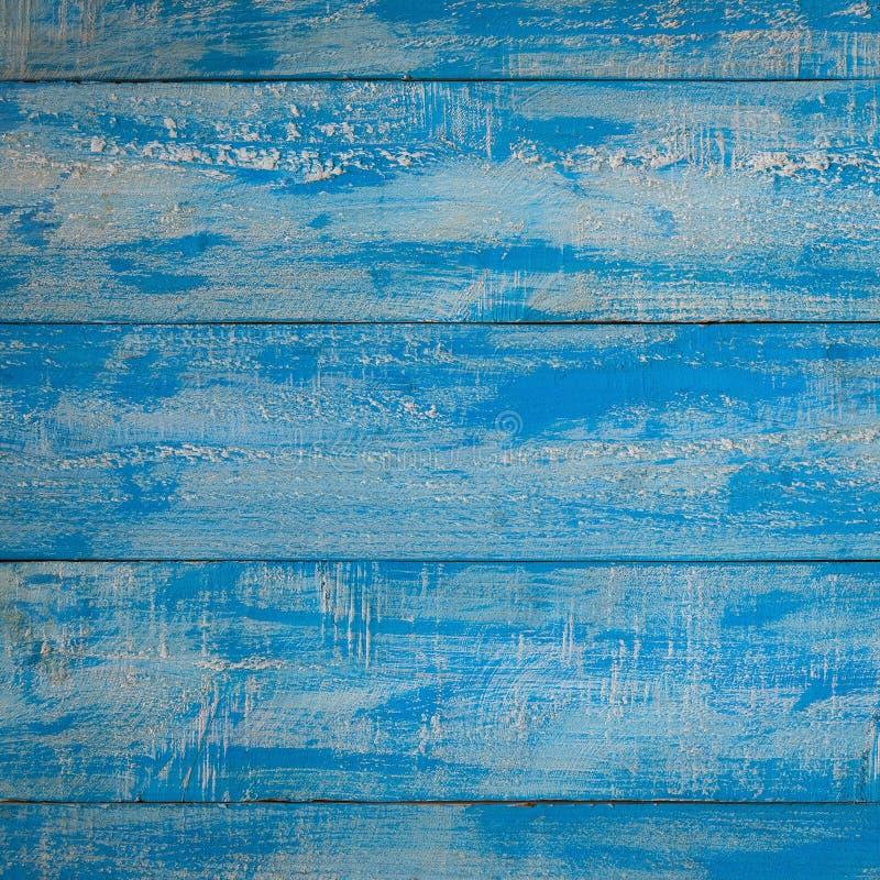 Fondo de madera de la playa del vintage - tablón de madera del viejo color azul foto de archivo