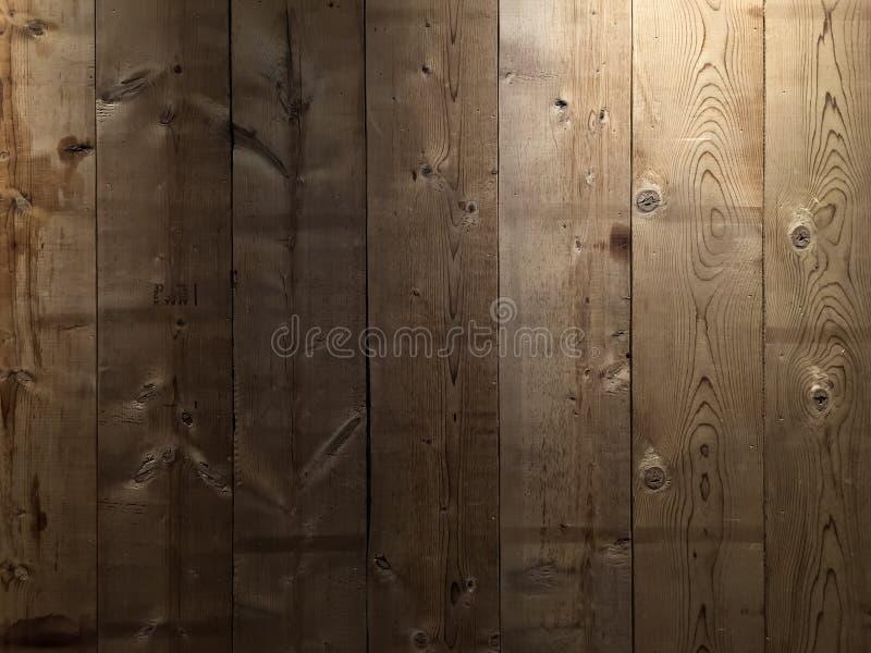 Fondo de madera de la textura de la pared del tablón de Brown imágenes de archivo libres de regalías