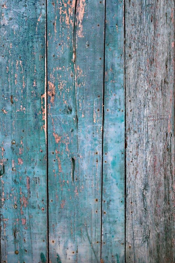 Fondo de madera de la textura del tablón azul fotografía de archivo