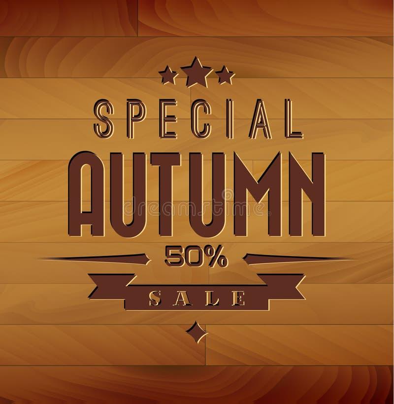 Fondo de madera de la venta del otoño libre illustration