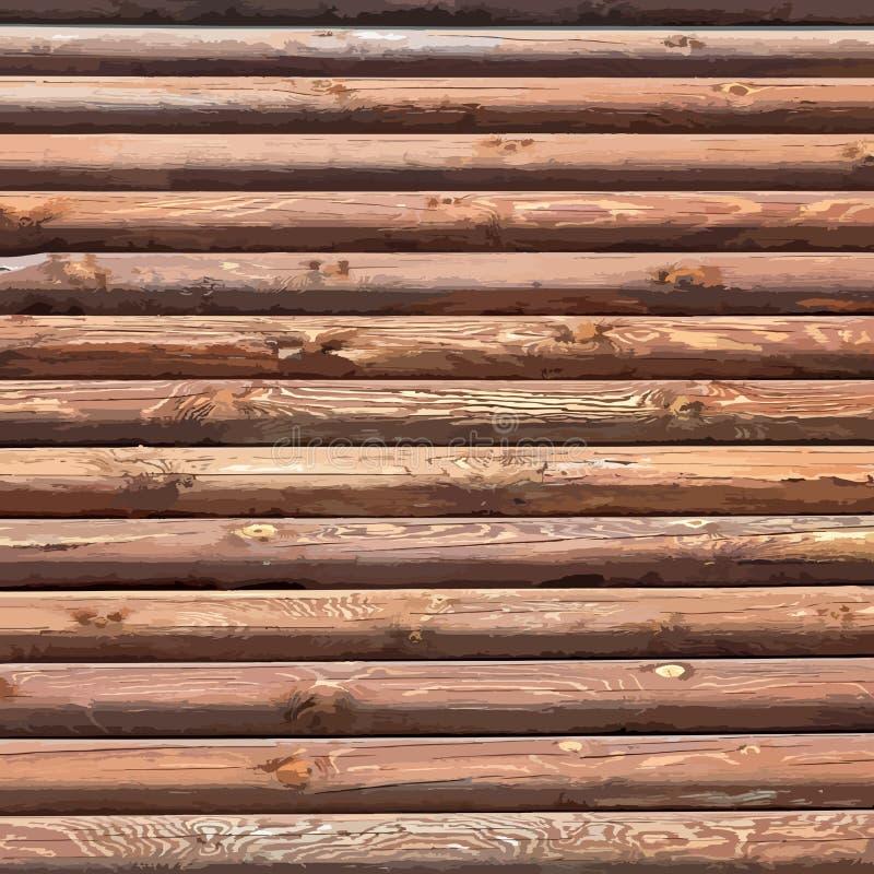 Fondo de madera de los registros ilustración del vector