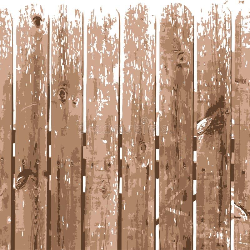 Fondo de madera del ejemplo de la textura Fondo de madera beige natural de la cerca libre illustration