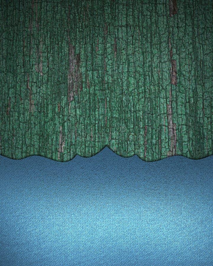 Fondo de madera del Grunge con la decoración azul Plantilla para el diseño copie el espacio para el folleto o la invitación del a ilustración del vector