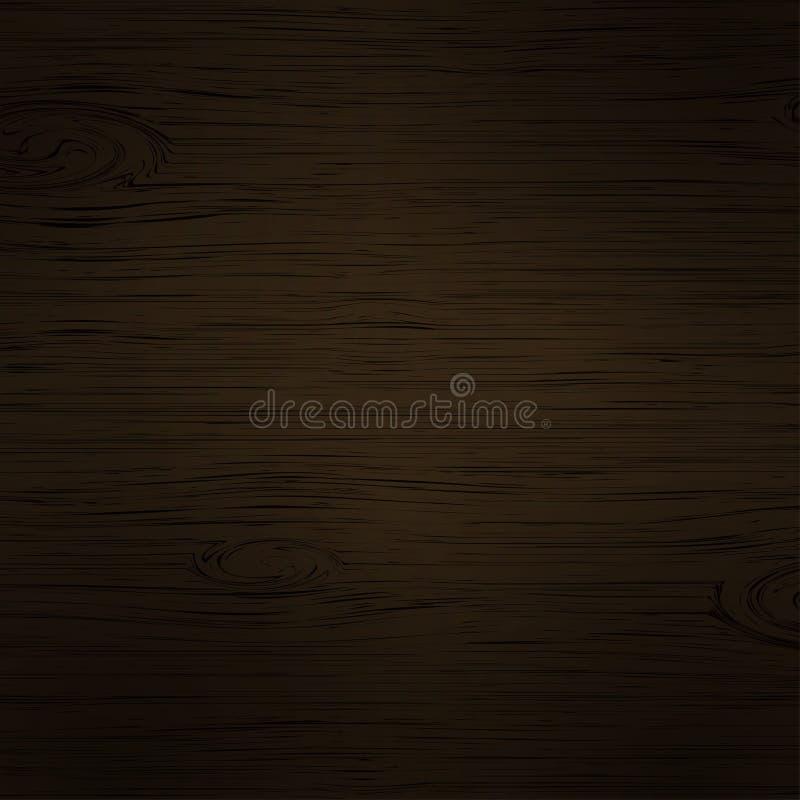 Fondo de madera del marrón oscuro con la imitación de madera de la textura, plantilla del contexto para su diseño, bandera, carte libre illustration