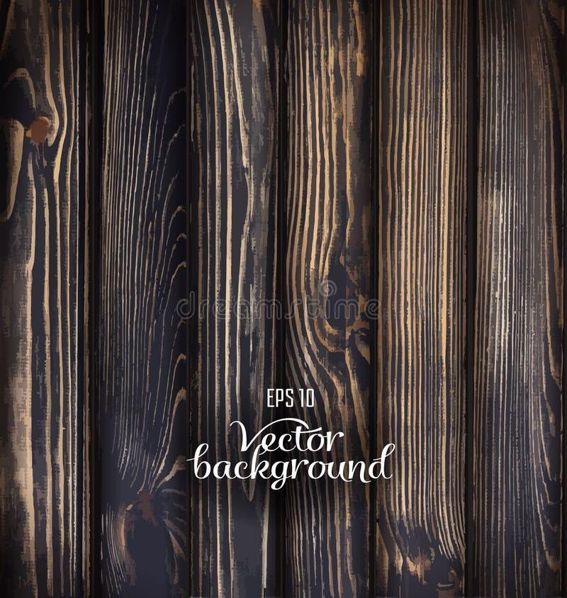 Fondo de madera del tablón del vector stock de ilustración