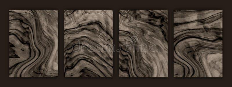 Fondo de madera del vector de la textura Textura determinada de un ?rbol libre illustration