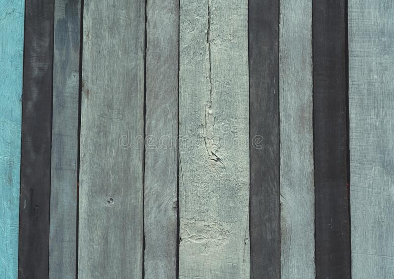 Fondo de madera gris, negro, y azul de la textura Contexto de madera Textura de la superficie áspera del panel de madera Vendimia imagen de archivo libre de regalías