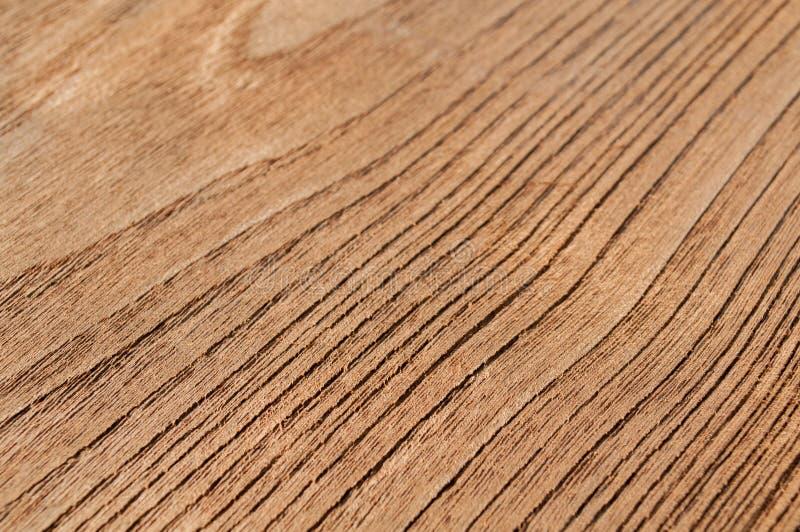 Fondo de madera de la superficie de la textura del tablón de la teca Primer del panel al aire libre de la vieja textura de madera imagen de archivo