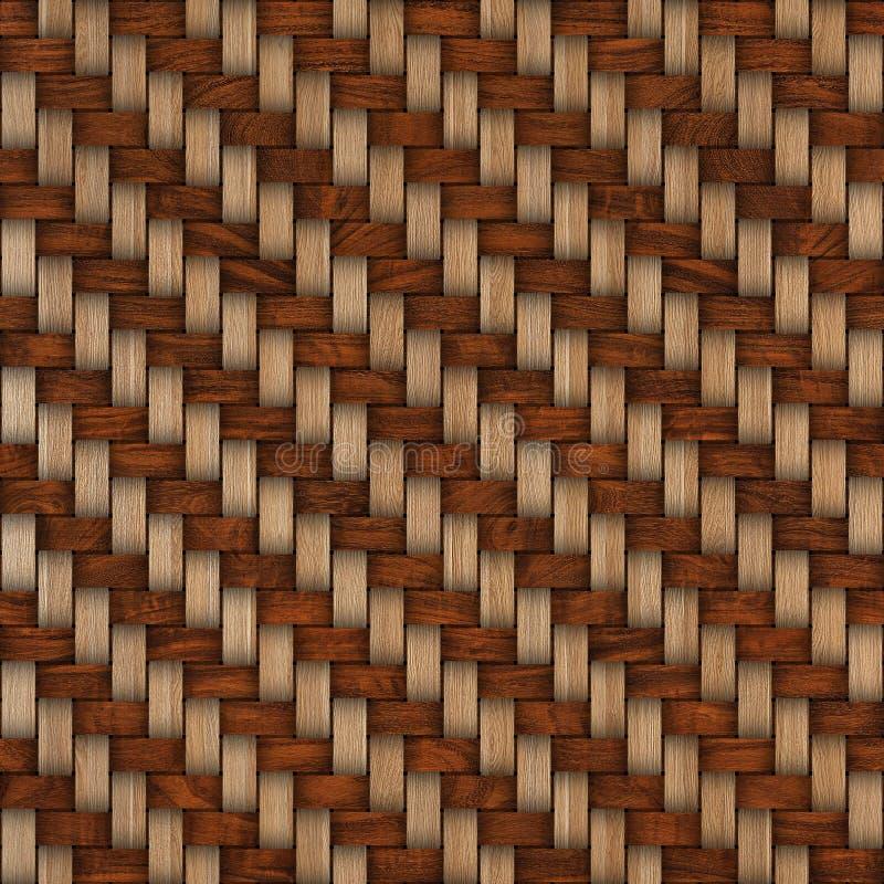Fondo de madera de la textura de la armadura Fondo textured de madera decorativo abstracto de la cestería Modelo inconsútil imagen de archivo libre de regalías