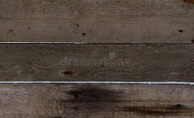 Fondo de madera La textura de la nieve pulverizada tablero fotos de archivo libres de regalías