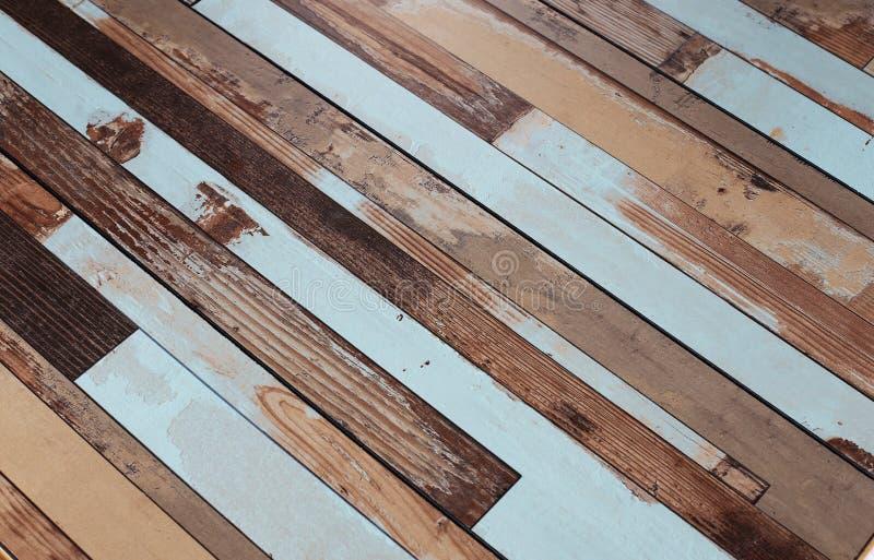 Fondo de madera de la textura del color, granos del tablero de madera, tablones rayados del piso viejo fotos de archivo libres de regalías