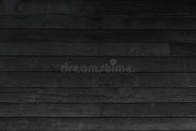 Fondo de madera de la textura del negro del tabl?n Pared de madera todo el papel pintado de peladura resistido que se agrieta ant fotos de archivo libres de regalías