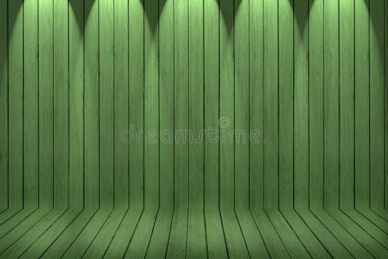 Fondo de madera de la textura pared y piso de madera verdes foto de archivo libre de regalías