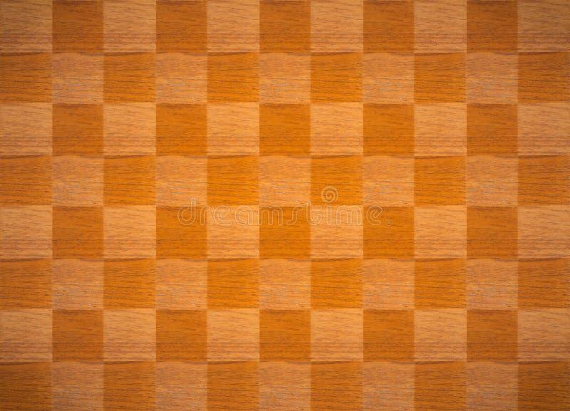 Fondo de madera de la textura de la tabla del ajedrez stock de ilustración