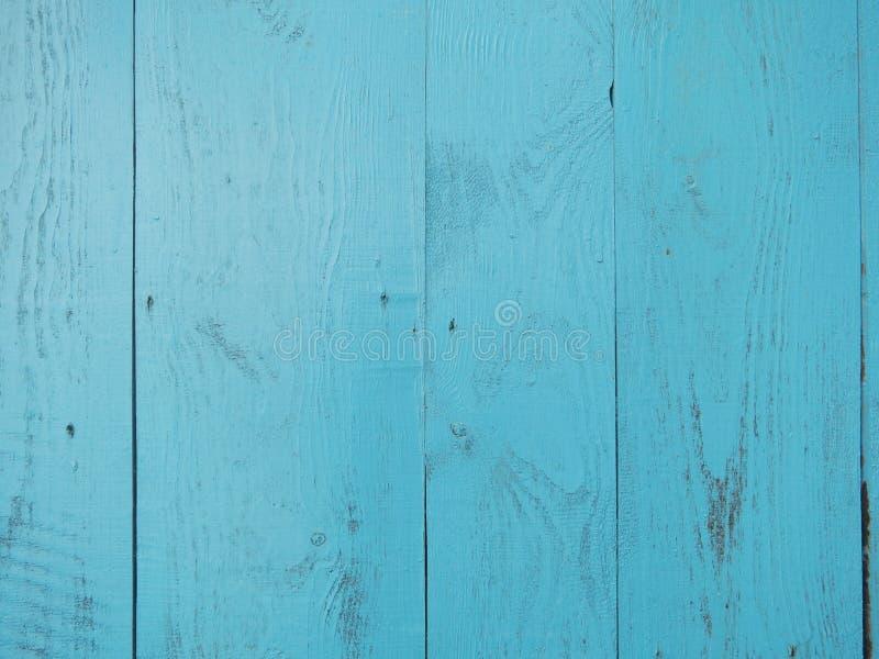 Fondo de madera de la turquesa - tablones de madera pintados para la pared o el piso de la tabla del escritorio fotografía de archivo