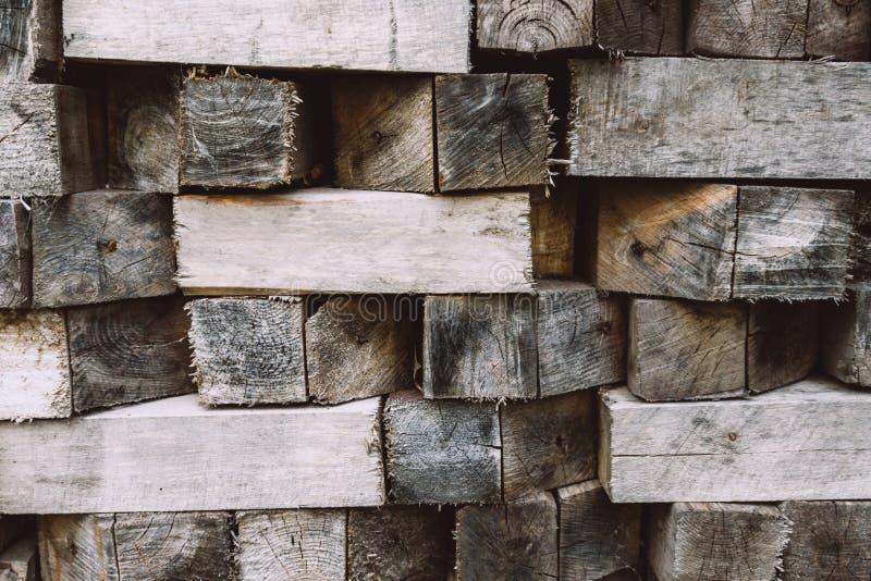 Fondo de madera de los bloques Textura de madera, fondo ecol?gico fotografía de archivo