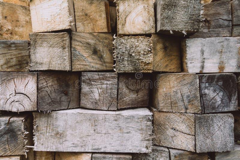Fondo de madera de los bloques Textura de madera, fondo ecol?gico fotos de archivo