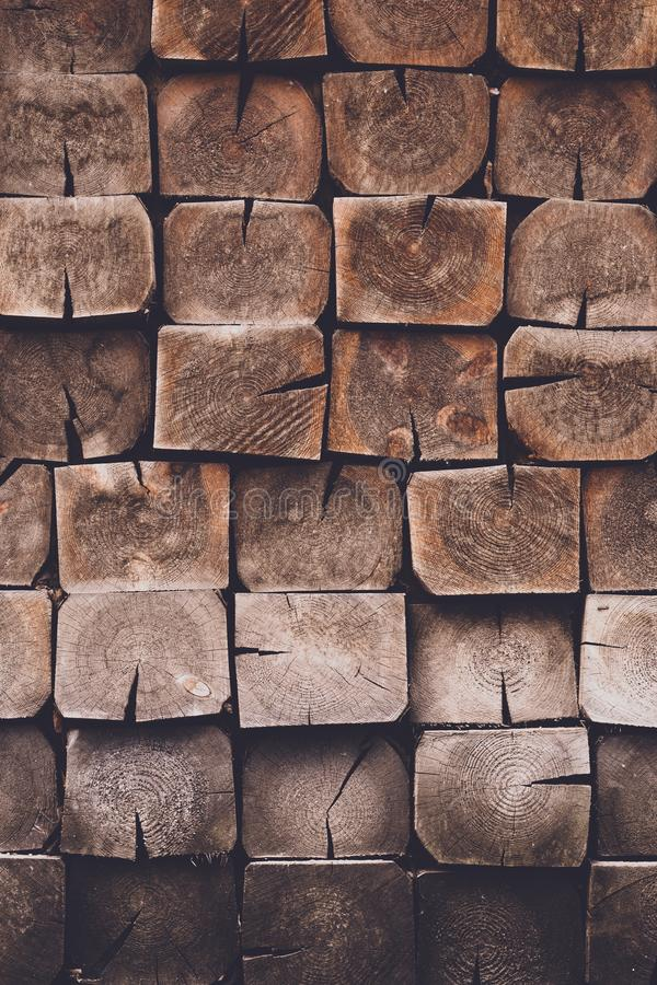Fondo de madera marrón lamentable Primer de la textura del roble Modelo abstracto con los tablones cuadrados oscuros Madera dura, fotos de archivo libres de regalías